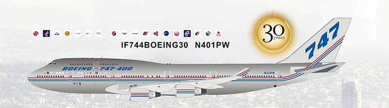 InFlight 200 Scale Diecast Airliners IF744BOEING30-P:Boeing