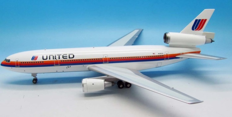JFox Model Airliners JF-DC10-1-002:United Airlines Douglas DC-10-10