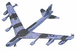 "B-52 (Approx. 3.5""), Motormax Diecast Item Number DS-B52"