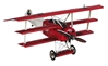 "Desktop Fokker Triplane DR 1 Red Baron (18.5"" wingspan), Authentic Models Item Number AP203"