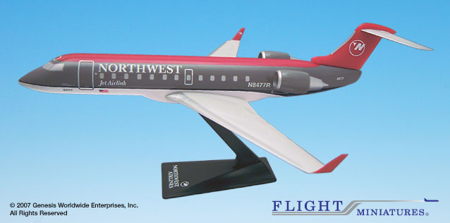 Northwest (90'S Color Scheme) CRJ-200 (1:100)