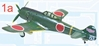 Ki-84 Hayate Frank Hitachi Flight Instructor Division (1:144), F-Toys from Japan Item Number FTC301A
