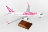 Swoop 737-800 W/WOOD STAND & GEAR (1:100), Skymarks Supreme Desktop Aircraft Models, SKR8273