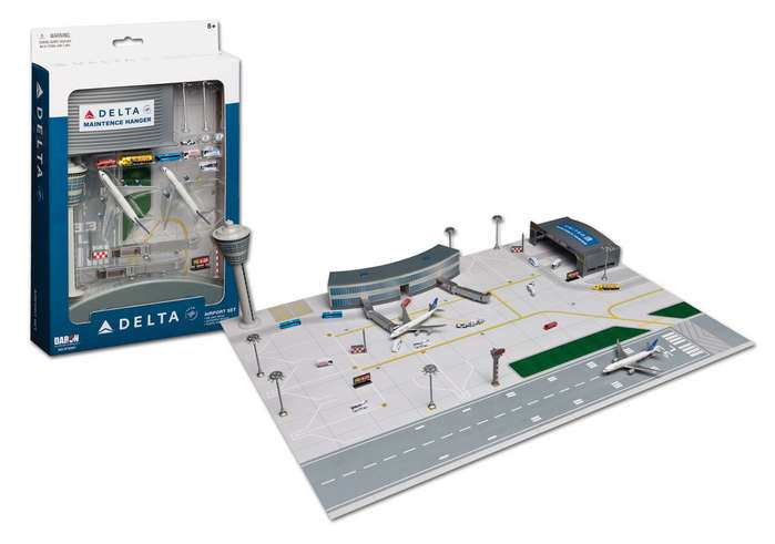 "Delta Airlines and Airport Play Set - 2 planes (3"" models)"