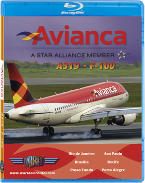 Avianca A319 - F-100 (BluRay DVD), Just Planes Aviation Blu-Ray Item Number JPAVA1B