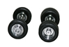 Chrome Plated Wheels with Planetary Hubs - Includes 4 Front and 4 Rear Axles (1:87), Promotex Item Number PRX005462