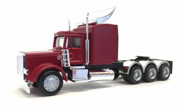 Peterbilt Triple Drive Cab with Chrome Fenders in Red (1:87), Promotex, Item Number PRX006374R