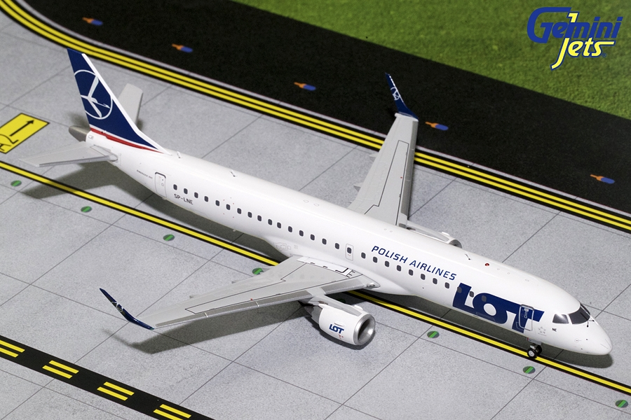 LOT Polish ERJ-195 SP-LNE (1:200) New Mould, GeminiJets 200 Diecast Airliners, Item Number G2LOT345