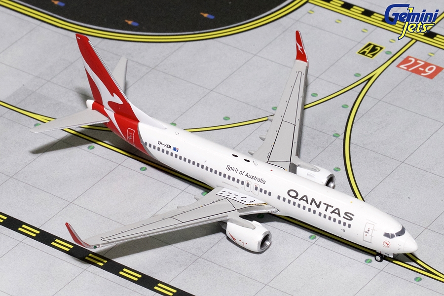 Qantas B737-800W New Livery VH-VXM (1:400) - Preorder item, order now for future delivery