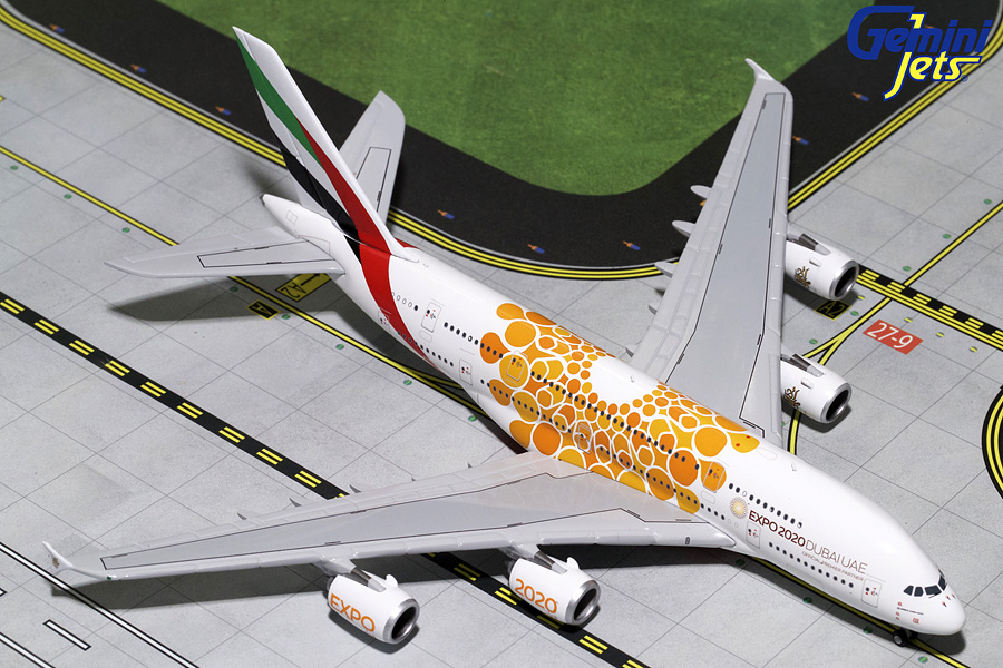 "Emirates A380-800 ""Orange Expo Logo"" A6-EOU (1:400) - Preorder item, order now for future delivery"