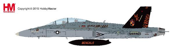 "F/A-18D Hornet, BuNo.164699, VMFA(AW)-224 ""Bengals"", 2009 (1:72), Hobby Master Diecast Airplanes Item Number HA3543"