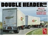 'Double Header' Van Trlrs 1:25 by AMT Plastic Model Kits item number: AMT1132
