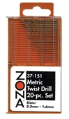 High Speed Twist Drills Metric, Zona Tools Item Number ZNA37151