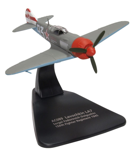 Lavochkin La-7 17-Victory Ace Sergei Dolgushin, Commander, 156th Fighter Regiment, 1945 (1:72) - Preorder item, order now for future delivery, Oxford Diecast 1:72 Scale Models, Item Number AC089