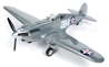 Curtiss P-40B Tomahawk 1941, Special Edition in Brushed Metal, Release #2 in the Fuel For Victory Texaco Series, 2019 (1:44) by Round 2 Model Airplanes