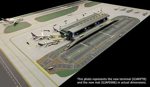 2-Piece Airport Mat Set (1:400 side 1, 1:200 side 2)