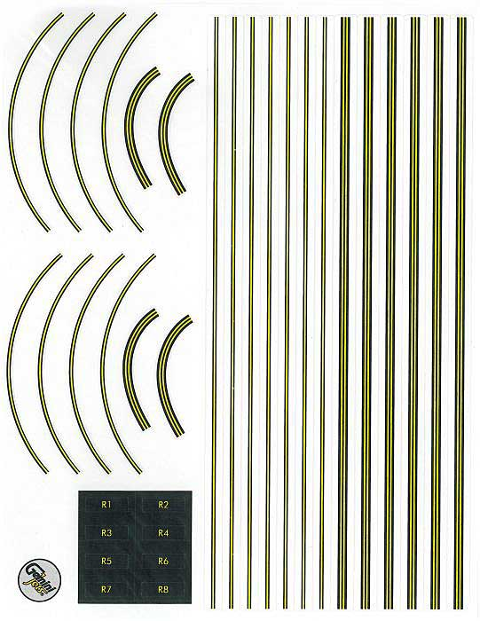 Graphic 1:400 Scale Decal Sheet by GeminiJets 400 Diecast Airliners Item Number: GJAPS007
