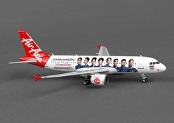 "Air Asia Thailand A320 ""Volleyball"" HS-ABC ((1:400)), Phoenix (1:400) Scale Diecast Aircraft, Item Number PH4AIQ1233"