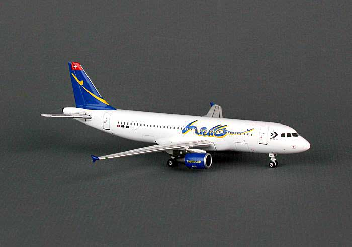"Hello A320-200 ""Sphair"" HB-JIY ((1:400)), Phoenix (1:400) Scale Diecast Aircraft, Item Number PH4FHE815"