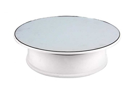 "8"" Turntable with Mirror, White Base, Batteries not included by EasyModel Aircraft Models Item Number: ZS040"
