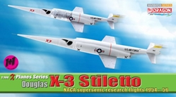 Douglas X-3 Stiletto, NACA Supersonic Research FlightS 1954-56 (Contain 2 replicas) (1:144), DragonWings 1:144 scale Diecast Warbirds Item Number DRW51035