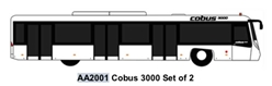 Airport Bus, Cobus3000. Set of 2 (1:200)