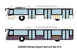 Airport Bus, Etihad. Set of 4 (1:400)
