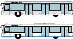 Airport Bus Set, HKIA Version, 4pcs per box (1:400)