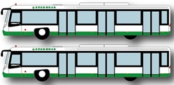 Airport Bus Set, EVA, 4pcs per box (1:400)