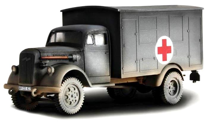 Opel Kfz.305 Blitz German Ambulance - France 1940 (1:32), Forces Of Valor Diecast Military Item Number FOV80073