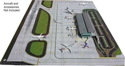 2-Piece Airport Mat Set (1:400 side 1, 1:200 side 2 - New, Improved Design, GeminiJets 400 Diecast Airliners Item Number GJAPS006V2