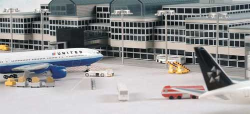 Airport Basic Set 1 - 350 Pieces Set (1:500), Herpa 1:500 Scale Diecast Airliners Item Number HE520362