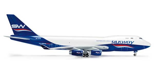 Silkway 747-400F (1:200), Herpa 1:200 Scale Diecast Airliners Item Number HE554497