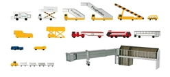 Airport Accessory Set 1 - 19 Pieces Set (1:500), Herpa 1:500 Scale Diecast Airliners Item Number HE519472A