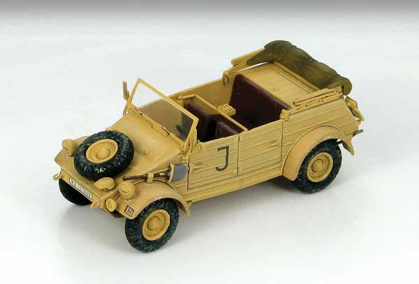 Kubelwagen Type 82 sPzAbt.501 Maintenance Unit HQ Company Tunisia 1943 (1:48), Hobby Master Diecast Military Armor Item Number HG1202