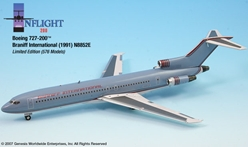 "Braniff International Ultra 727-200 ""Light Blue Ultra"" (1:200), InFlight 200 Scale Diecast Airliners Item Number IF722014"
