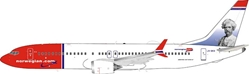 "Norwegian Air Shuttle Boeing 737-8 MAX LN-BKB ""Mark Twain"" stand included (1:200)"