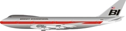 Braniff International Airways Boeing 747-100 N9666 Polished With Stand (1:200) By Inflight Models