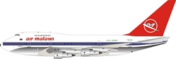 Air Malawi Boeing 747SP 7Q-YKL Polished (1:200), InFlight 200 Scale Diecast Airliners Item Number IF747SP0717P