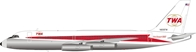 Trans World Airlines TWA  Convair 880  N806TW (1:200)