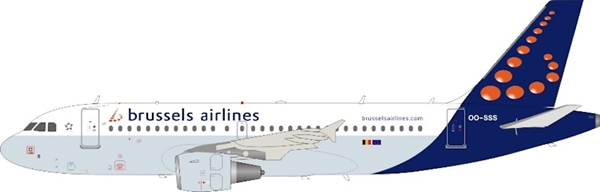 Brussels Airlines A319-111 OO-SSS (1:200)