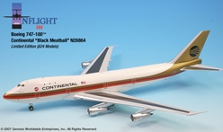 "Continental 747-100 ""Black meatball"" (1:200), InFlight 200 Scale Diecast Airliners Item Number IF741005"
