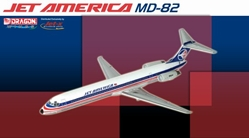 Jet America MD-82 (1:400), Jet X 1:400 Diecast Airliners Item Number JET076
