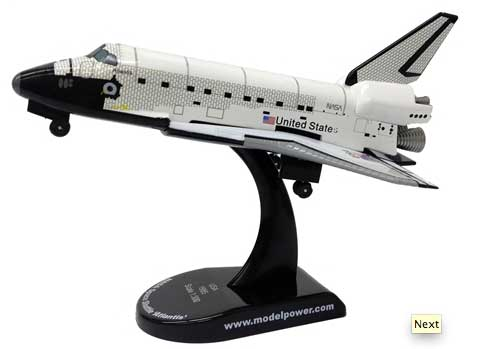 NASA Space Shuttle Atlantis (1:300), Model Power Diecast Planes Item Number MP5823-1