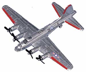 "B-17 Flying Fortress (Approx. 3.5""), Motormax Diecast Item Number DS-B17"