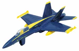 "F-18 Hornet Blue Angels (Approx. 3.5""), Motormax Diecast Item Number DS-F18"