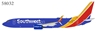 Southwest Airlines 737-800/w N8686A Scimitars (1:400)