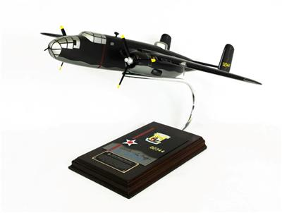 B-25B Mitchell Bomber Signed by Richard Cole (1:41), TMC Pacific Desktop Airplane Models Item Number AB25TSS
