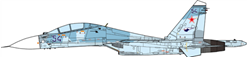 SU-30 Flanker-C Russian Air Forces, 142nd IAP, 1997 (1:72)