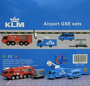 KLM GSE Set 6 (1:200) - Special Clearance Pricing by JC Wings Diecast Airliners Item: XX2026